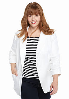 MICHAEL Michael Kors Plus Size Linen Blazer