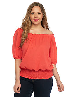 MICHAEL Michael Kors Plus Size Off Shoulder Top