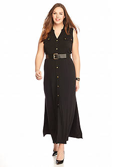 MICHAEL Michael Kors Plus Size Maxi Shirtdress