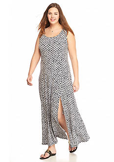 MICHAEL Michael Kors Plus Size Wax Print Maxi Tank Dress
