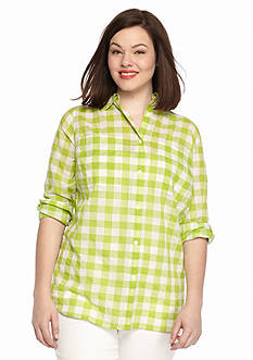 MICHAEL Michael Kors Plus Size Water Front Plaid Shirt