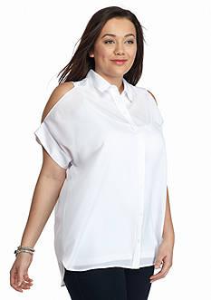 MICHAEL Michael Kors Plus Size Cold Shoulder Top