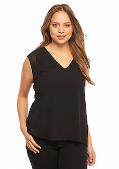 MICHAEL Michael Kors Plus Size Woven and Knit Tank
