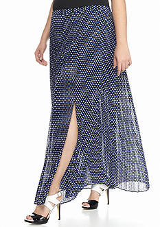MICHAEL Michael Kors Plus Size Alston Pleated Maxi Skirt