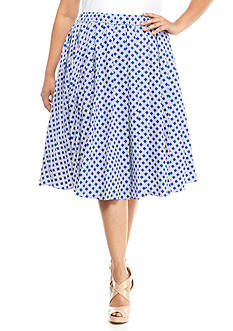 MICHAEL Michael Kors Plus Size Geo Print Skirt