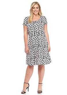 MICHAEL Michael Kors Plus Size Alicante Print Dress