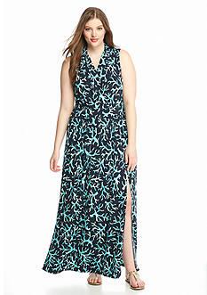 MICHAEL Michael Kors Plus Size Nadina Printed Maxi Dress