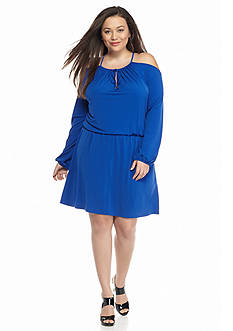 MICHAEL Michael Kors Plus Size Cold Shoulder Dress