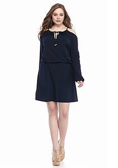 MICHAEL Michael Kors Plus Size Cold Shoulder Dress