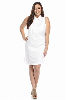 MICHAEL Michael Kors Plus Size Linen Shirtdress