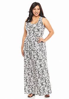 MICHAEL Michael Kors Plus Size Twist Back Printed Maxi Dress