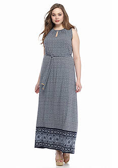 MICHAEL Michael Kors Plus Size Border Print Maxi Dress