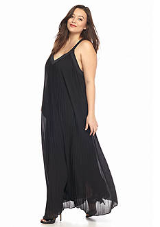 MICHAEL Michael Kors Plus Size Pleated Maxi Dress