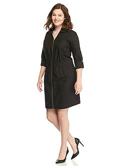 MICHAEL Michael Kors Plus Size Zip Front Dress