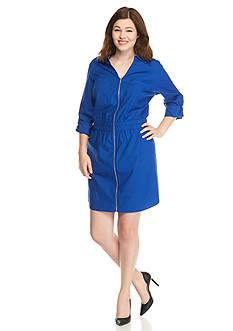 MICHAEL Michael Kors Plus Size Zip Front Dress