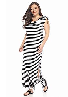 MICHAEL Michael Kors Plus Size Pindo Stripe Maxi Dress