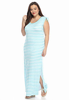 MICHAEL Michael Kors Plus Size Pindo Stripe Maxi Dress