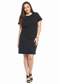 MICHAEL Michael Kors Plus Size Grid Textured Knit Dress