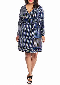 MICHAEL Michael Kors Plus Size Alston Wrap Dress