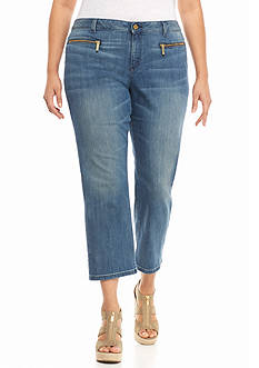 MICHAEL Michael Kors Plus Size Denim Izzy Crop Pants