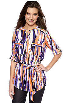 Calvin Klein Calvin Klein Printed Tunic with Belt