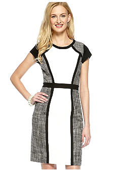 Calvin Klein Color Block Mix Media Dress