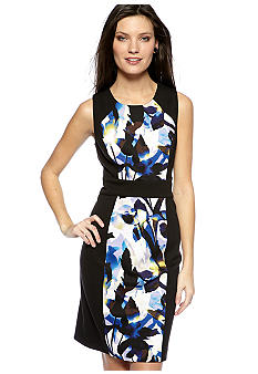 Calvin Klein Mixed Print Sheath Dress