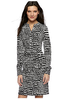Calvin Klein Printed Henley Dress