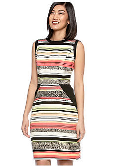 Calvin Klein Color Block Sheath Dress