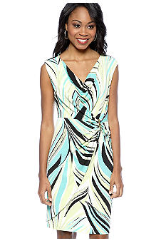 Calvin Klein Twist Front Faux Wrap Dress