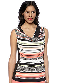 Calvin Klein Printed Cowl Neck Top