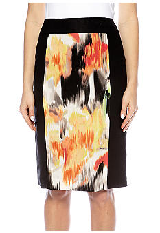 Calvin Klein Mixed Print Skirt