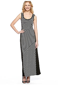 Calvin Klein Color Block Maxi Dress