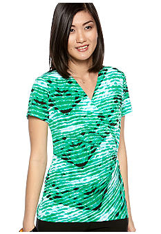 Calvin Klein Printed Twist Top