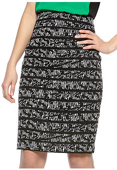 Calvin Klein Hi Waist Pencil Skirt