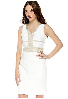Calvin Klein Dress with Metallic Trim