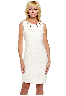 Calvin Klein Shift Dress with Gold Hardware