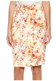 Calvin Klein High Waisted Printed Pencil Skirt