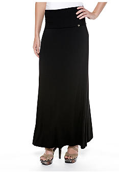 Calvin Klein Maxi Skirt with Fold Over Waistband