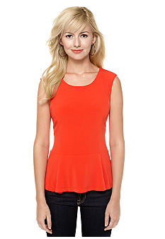 Calvin Klein Sleeveless Peplum Top