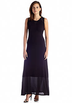 Calvin Klein Sleeveless Crew Neck Maxi Dress