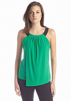Calvin Klein Solid Double Layer Tank