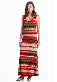 Calvin Klein Printed Tank Maxi Dress