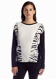 Calvin Klein Long Sleeve Printed Combo Sweater