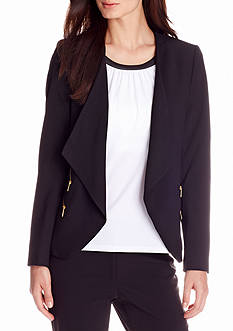 Calvin Klein Long Sleeve Open Front Jacket