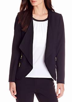 Calvin Klein Long Sleeve Open Front Jacket