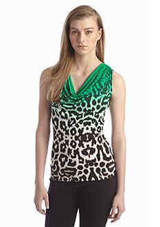 Calvin Klein Print Cowl Neckline Top