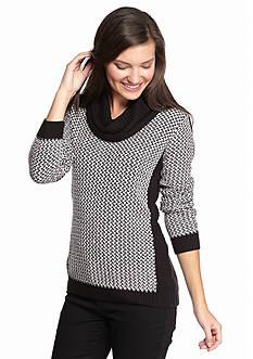 Calvin Klein Basketweave Cowl Neck Sweater