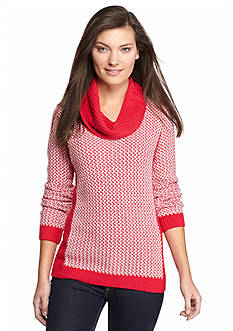 Calvin Klein Basketweave Cowl Neck Sweater
