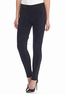 Calvin Klein Faux Suede Front/Power Stretch Back Legging